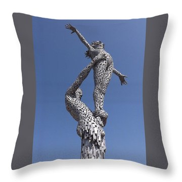 Steel People Throw Pillow