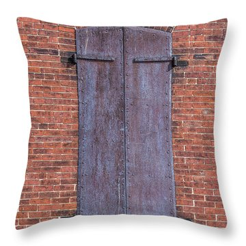 Throw Pillow featuring the photograph Steel Shutters by Paul Freidlund