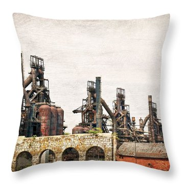 Steel Stacks  Throw Pillow