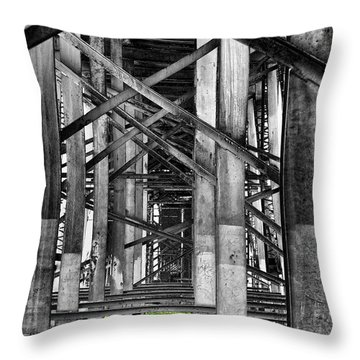 Steel Support Throw Pillow