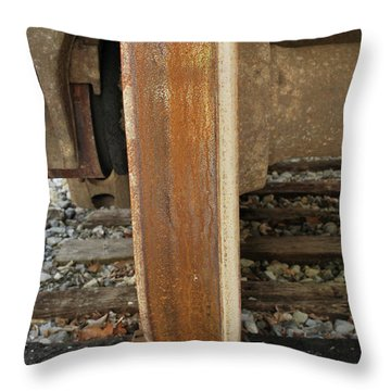 Steel Wheel Throw Pillow