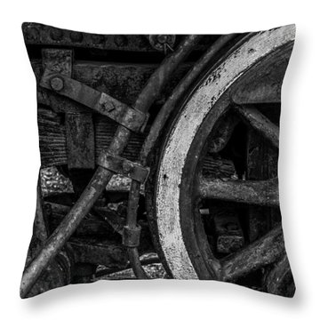 Steel Wheels In Monochrome Throw Pillow