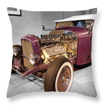 Steele Roadster Throw Pillow by John Schneider