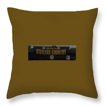 Steelers Sign Throw Pillow