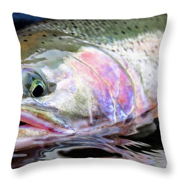 Steelhead 3 Throw Pillow