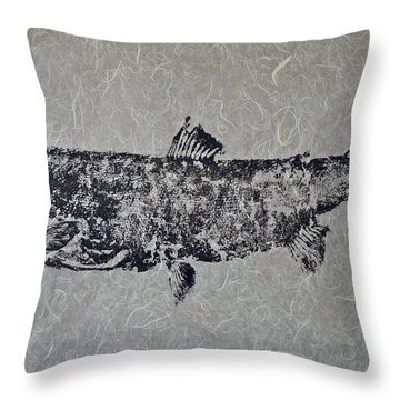 Steelhead Salmon - Smoked Salmon Throw Pillow