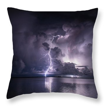 Steely Blue Throw Pillow