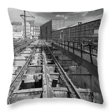 Steelyard Tracks 1 Throw Pillow
