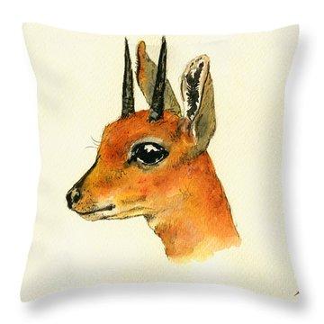 Steenbok Throw Pillow