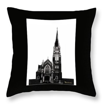 Steeple Chase 1 Throw Pillow by Sadie Reneau