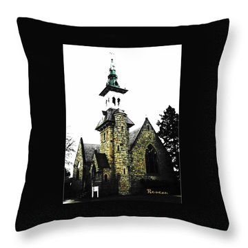Steeple Chase 2 Throw Pillow by Sadie Reneau