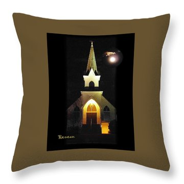 Steeple Chase 3 Throw Pillow by Sadie Reneau