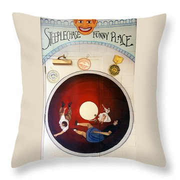Steeple Chase Funny Place Throw Pillow
