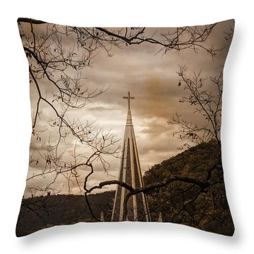 Steeple Of Time Throw Pillow