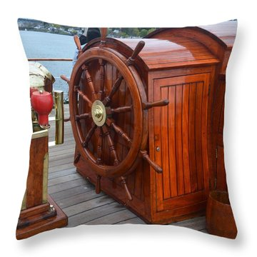 Steer This Throw Pillow