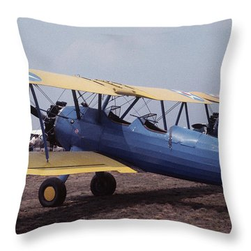 Steerman Throw Pillow