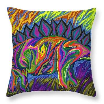 Stegasaurus Colorado Throw Pillow by Robert SORENSEN