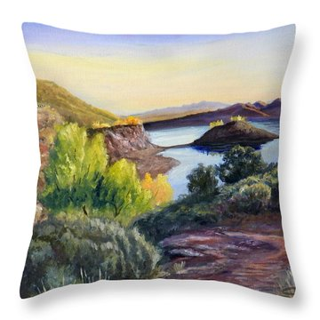 Steinaker Throw Pillow by Sherril Porter