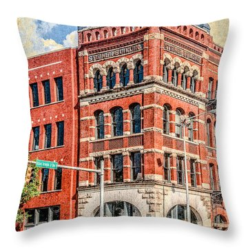 Steiner Building Throw Pillow by Phillip Burrow