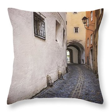 Steingasse Salzburg Throw Pillow
