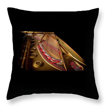 Steinway Guts Throw Pillow