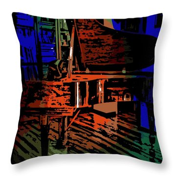 Steinway Piano Throw Pillow by George Pedro