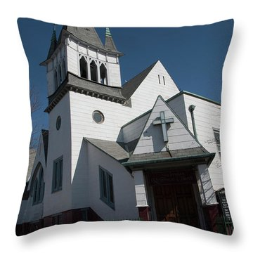 Steinwy Reformed Church Steinway Reformed Church Astoria, N.y. Throw Pillow