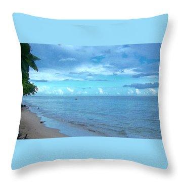 Stella Blue Throw Pillow