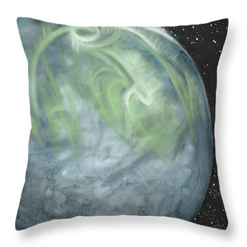 Stellar Aurora Throw Pillow