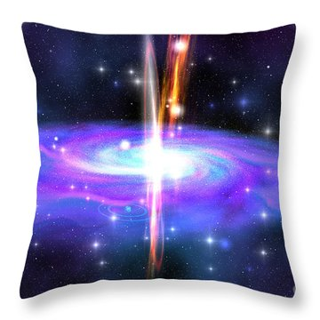 Stellar Black Hole Throw Pillow by Corey Ford