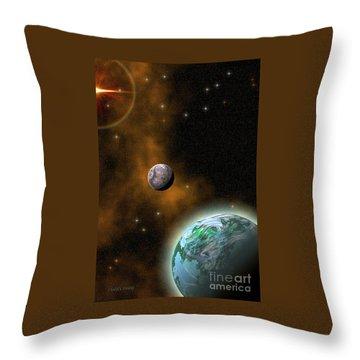 Stellar Smoke Ring Throw Pillow by Corey Ford