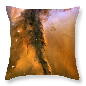 Stellar Spire In The Eagle Nebula Throw Pillow by Nicholas Burningham