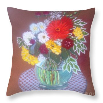 Stella's Flowers Throw Pillow
