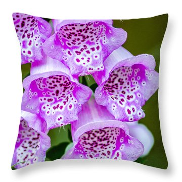 Stem Of Foxglove Throw Pillow