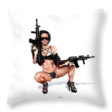 Step Aside Throw Pillow