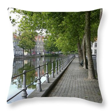 Step Back In Time Throw Pillow by Rhonda McDougall