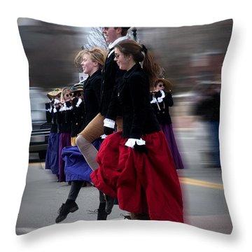 Step Dancing Throw Pillow