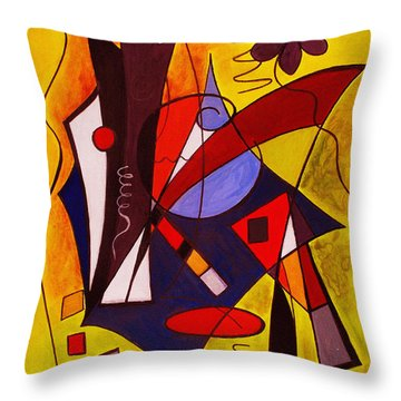 Step Lively Now Throw Pillow by Ruth Palmer