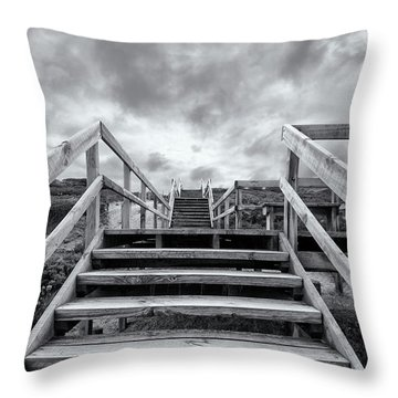 Throw Pillow featuring the photograph Step On Up by Linda Lees