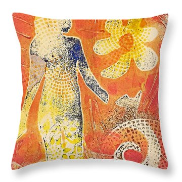 Step With Confidence  Throw Pillow