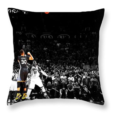 Steph Curry Its Good Throw Pillow by Brian Reaves