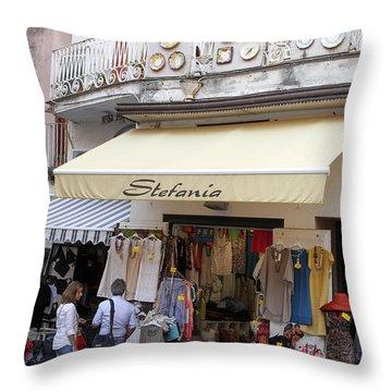 Stephanie Throw Pillow by Allan Levin