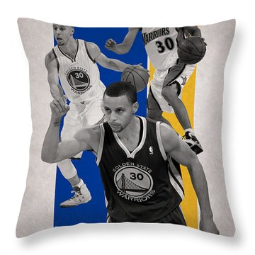 Stephen Curry Golden State Warriors Throw Pillow