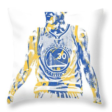 Stephen Curry Golden State Warriors Pixel Art 30 Throw Pillow