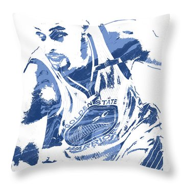 Stephen Curry Golden State Warriors Pixel Art 8 Throw Pillow