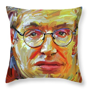 Stephen Hawking Tribute Portrait 4 Throw Pillow