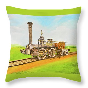 Steam Engine Mississippi Throw Pillow