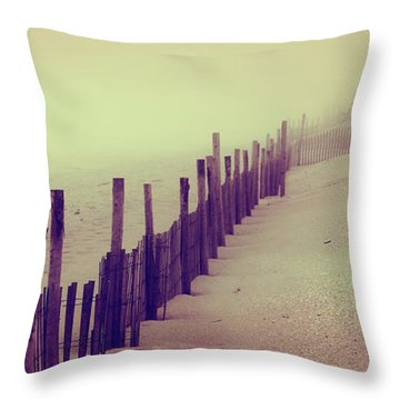 Stepping In A Clouded Dream Throw Pillow