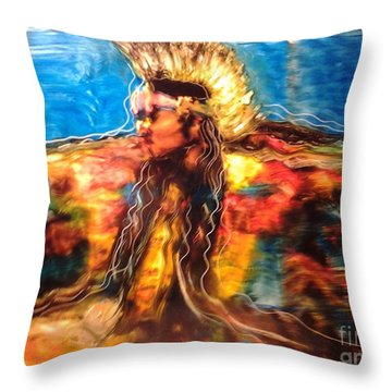 Stepping Into The Soul Throw Pillow by FeatherStone Studio Julie A Miller
