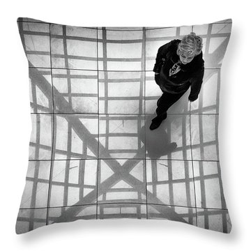 Throw Pillow featuring the photograph Stepping Into The Web by John Williams